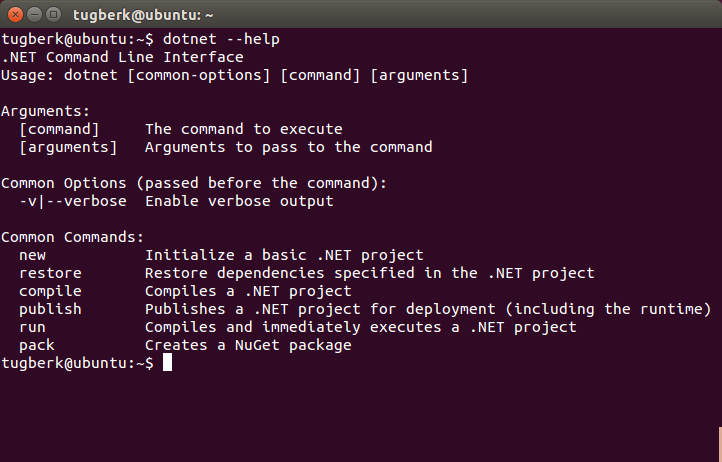 install nuget package dotnet cli