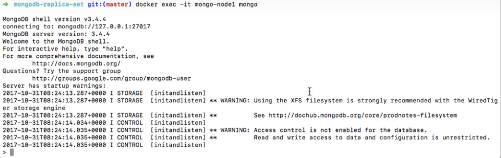 Setting up a MongoDB Replica Set with Docker and Connecting to It