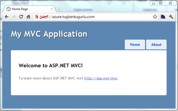 Windows Azure SSL Enable Application